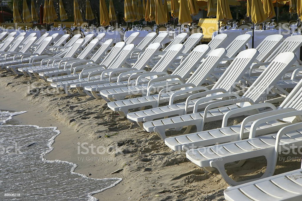 Chairs on the beach 免版稅 stock photo