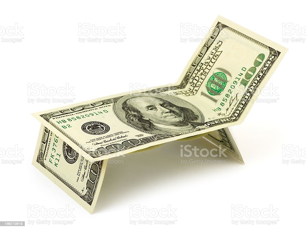 Chaise longue made of money royalty-free stock photo