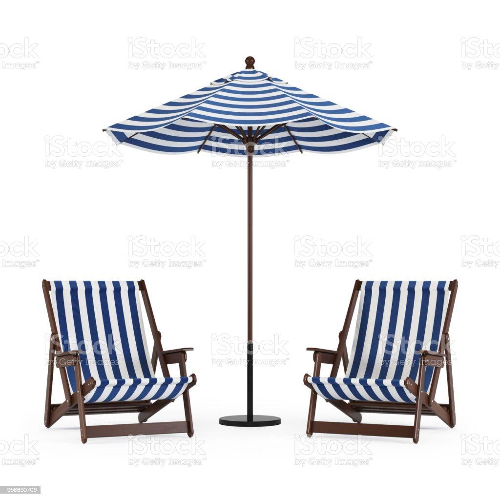 Droit De Avec Chaise Sur Photo Fond Blanc Longue Libre Parasol 8ym0ONnvw