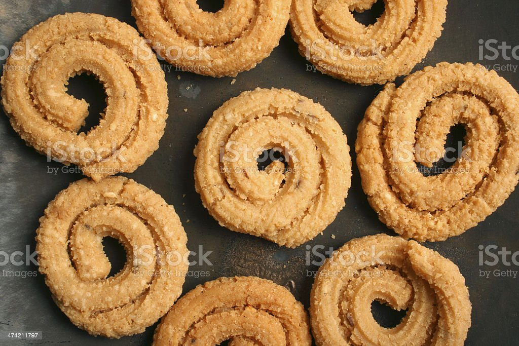 Chakli is a popular Indian festive snack royalty-free stock photo