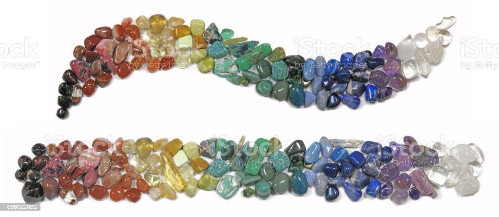 Chakra Healing Crystals stock photo