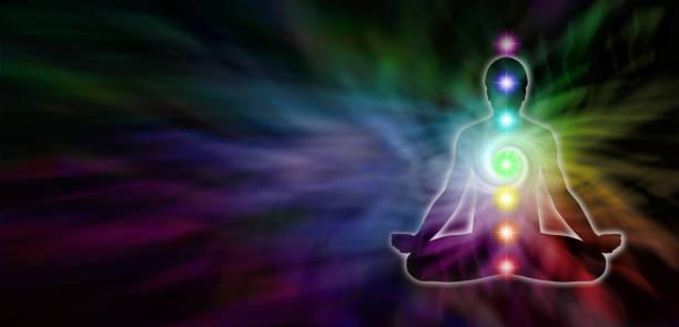 chakra meditation seitenüberschrift - kundalini yoga stock-fotos und bilder