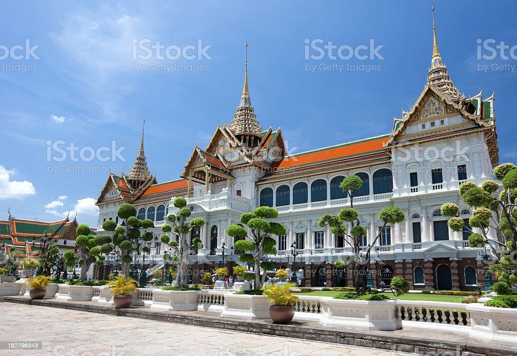 Chakri Maha Prasat Throne Hall at the Grand Palace, Bangkok. stock photo