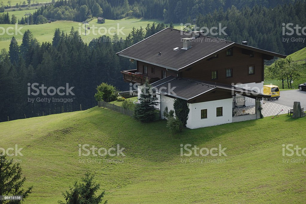 Chalet in Alps royalty-free stock photo