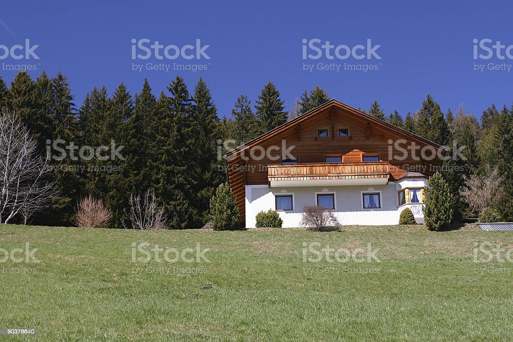 Chalet in the Dolomites royalty-free stock photo