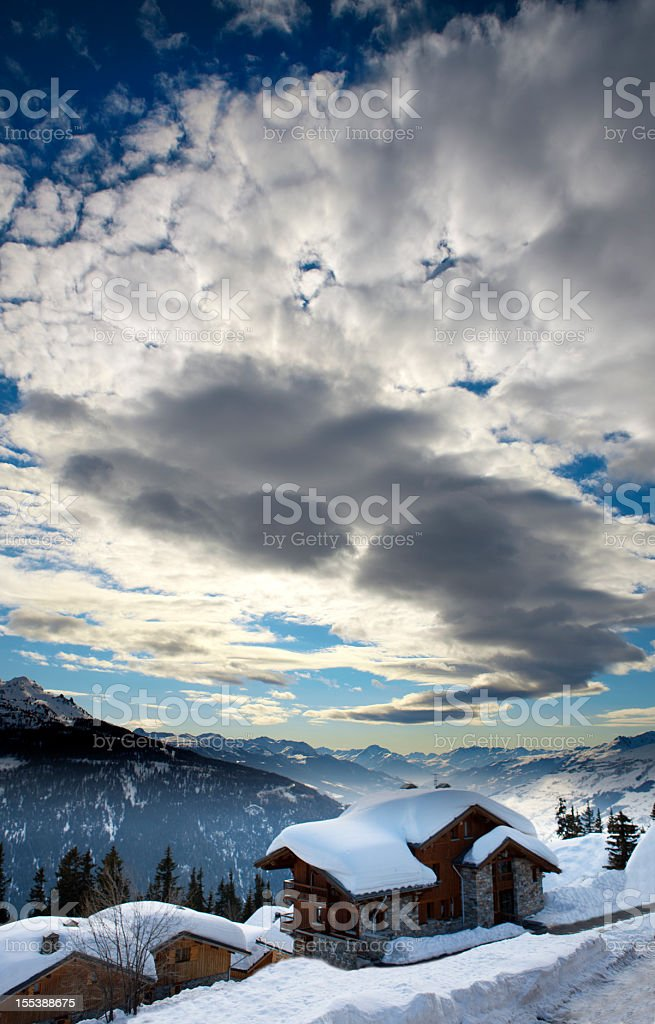 Chalet stock photo