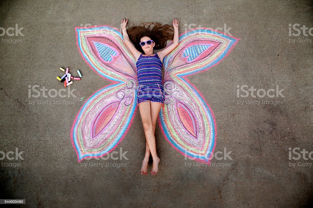 Chalk Art Portrait stock photo