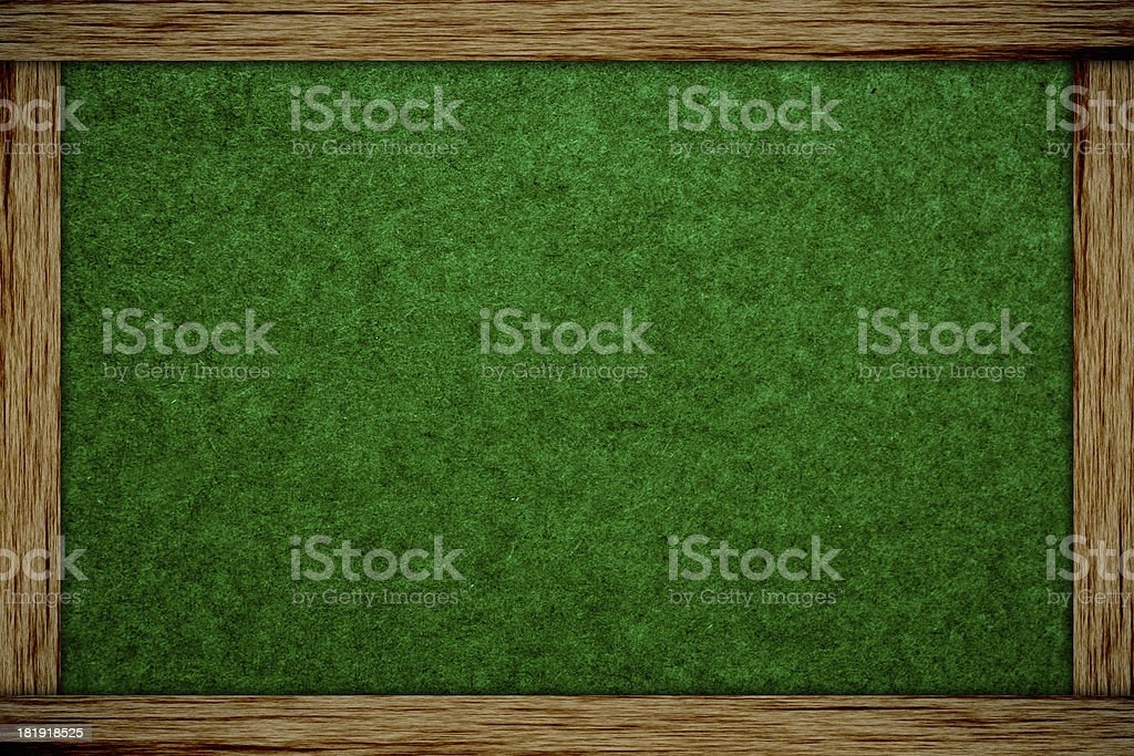 chalk board and wood frame royalty-free stock photo