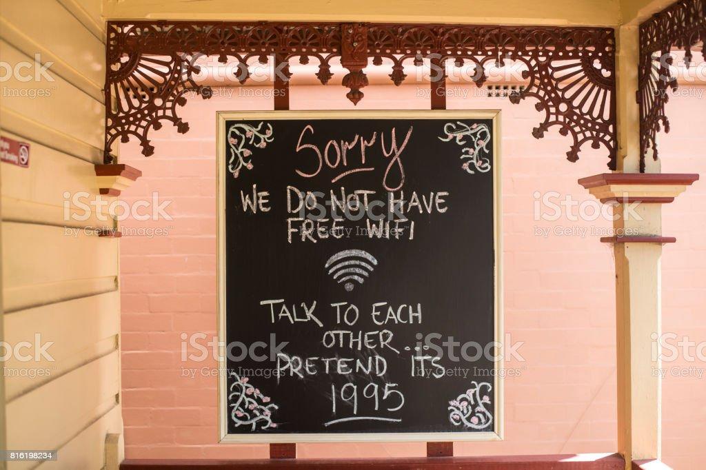Chalk board sign stock photo