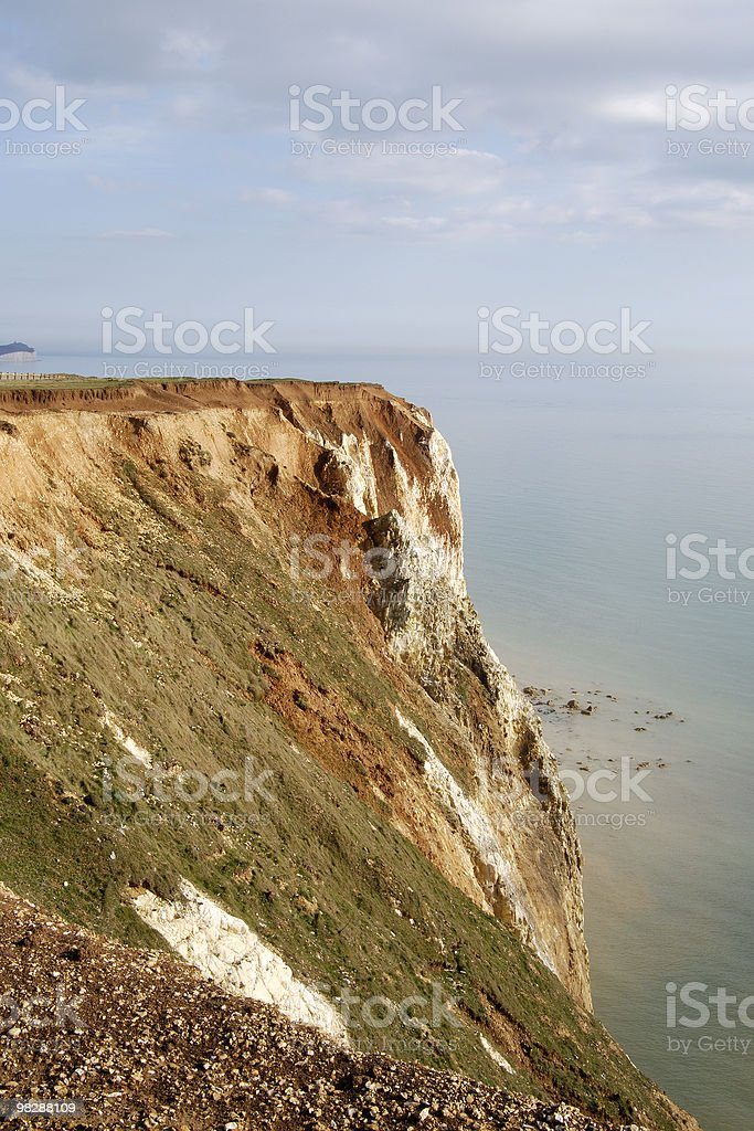 Chalk Cliffs at Seaford. East Sussex. England royalty-free stock photo