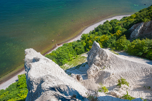 Chalk cliffs at the Victoriasicht observation point near Sassnitz