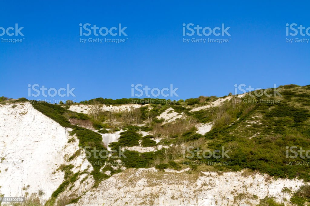 Chalk Cliffs in Sussex foto stock royalty-free