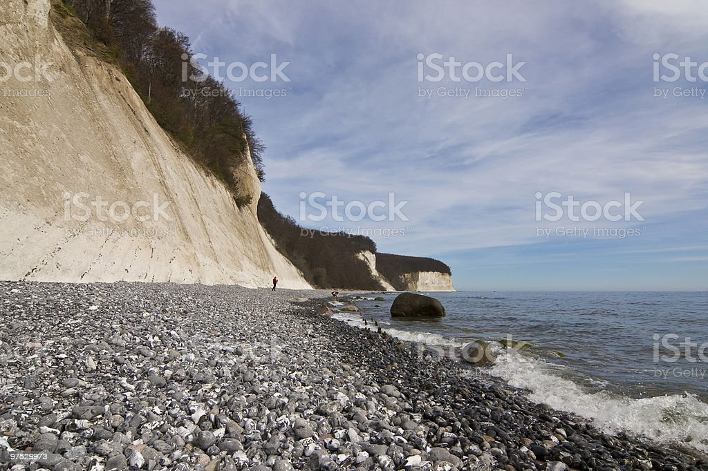 Chalk cliffs of Rugen Island royalty-free stock photo
