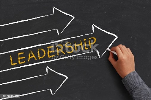 istock A chalk diagram of a leadership concept 467098056