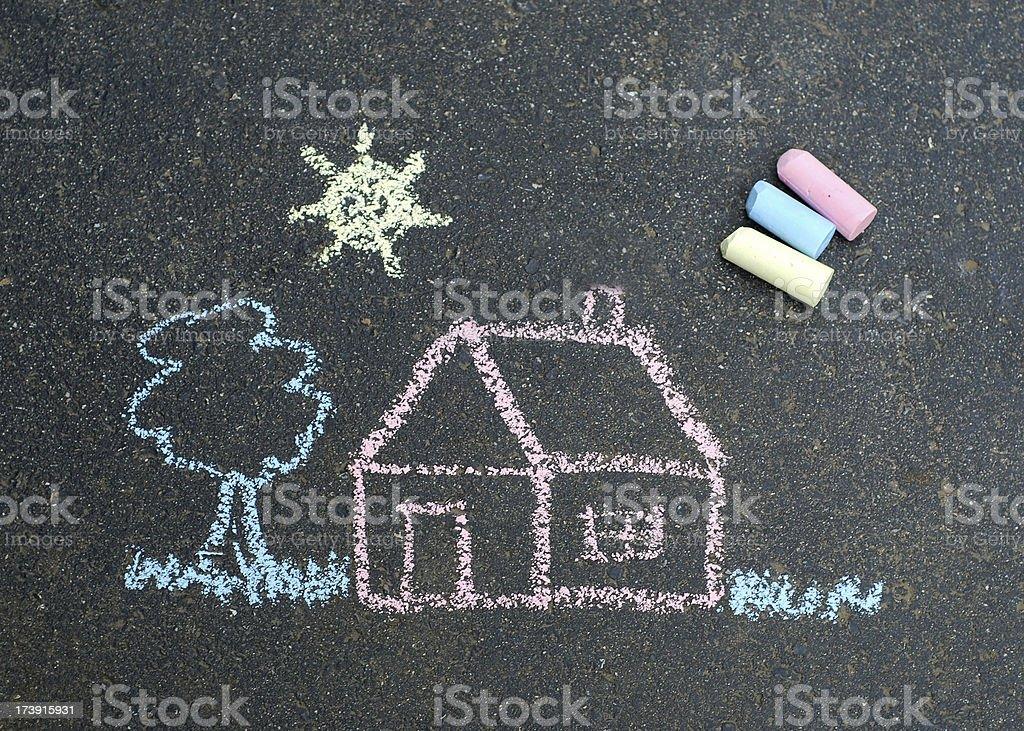 Chalk drawing royalty-free stock photo