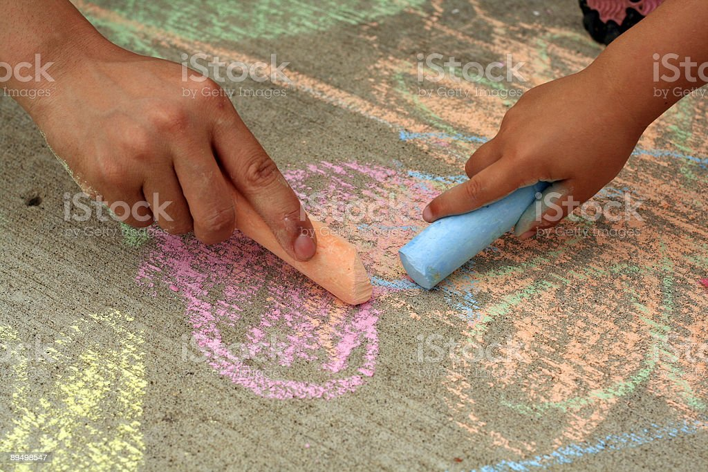 Chalk drawing stock photo