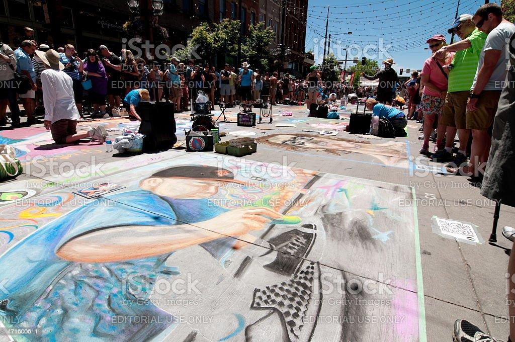 Chalk Festival royalty-free stock photo