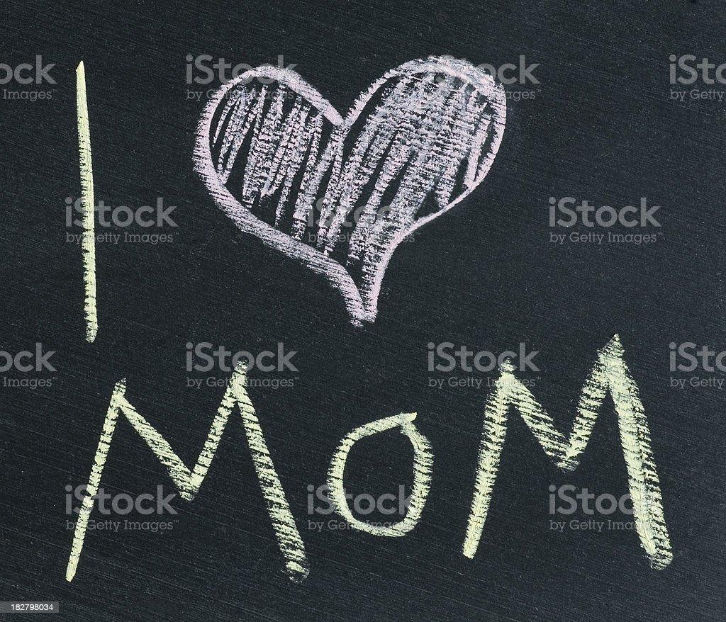 Chalk message royalty-free stock photo