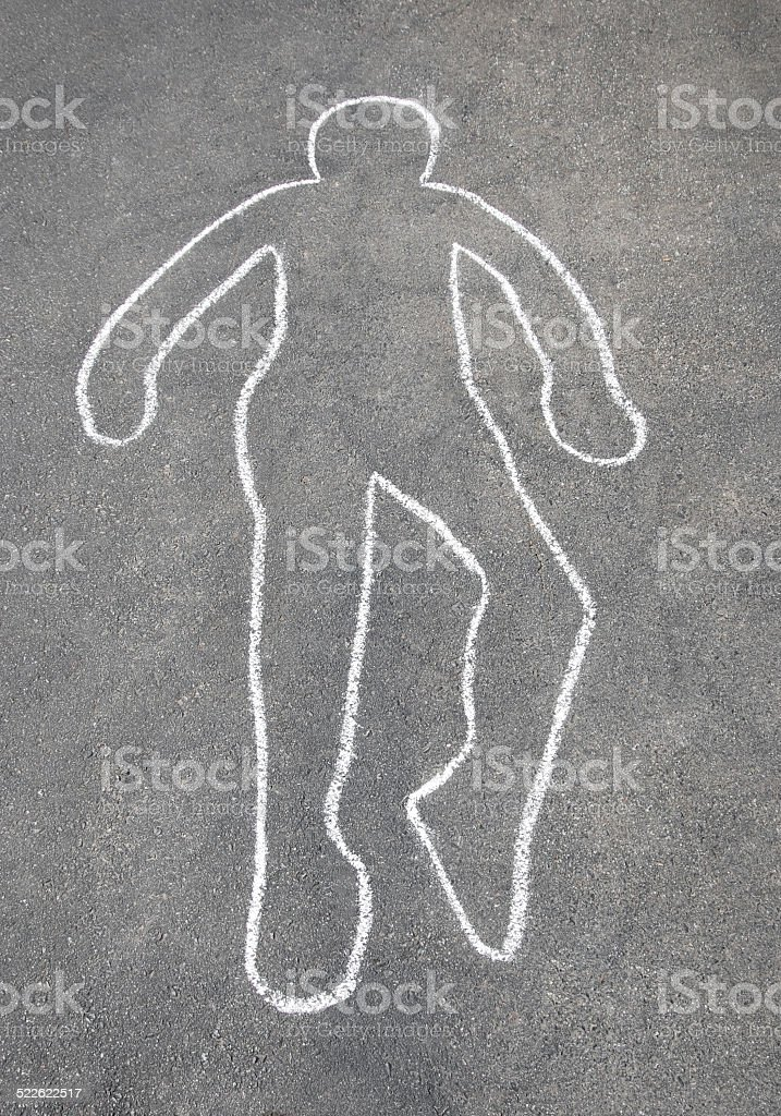Chalk Outline stock photo