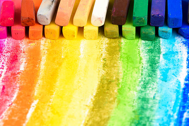 chalk pastel - chalk drawing stock photos and pictures