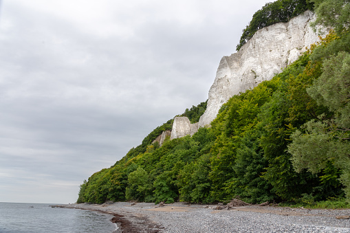 chalk rocks on Ruegen island in Germany near baltic sea