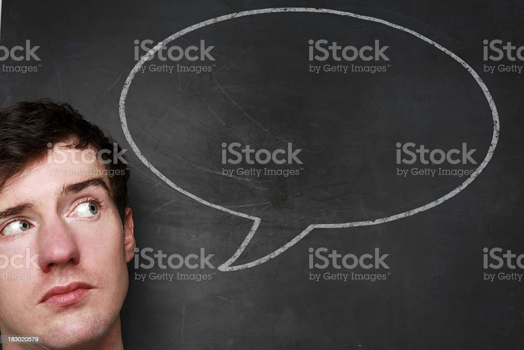 Chalk speech bubble royalty-free stock photo