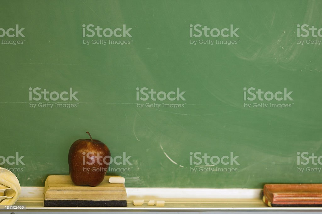 Chalkboard and Apple royalty-free stock photo