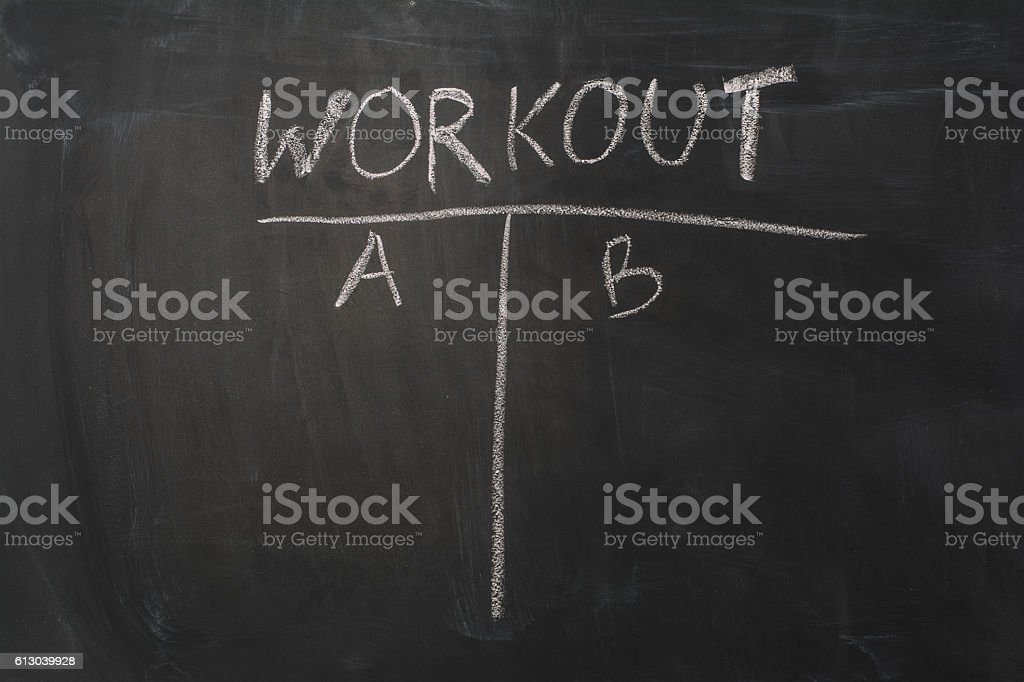 Chalkboard Background And Workout Text Black Blackboard Frame With Copy Royalty Free Stock Photo