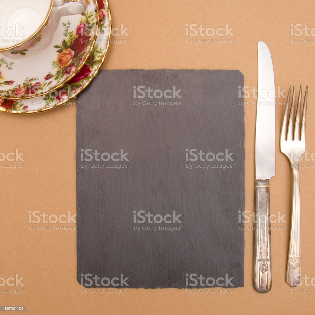 A Chalkboard Background - Perfect for a Dinner Menu stock photo
