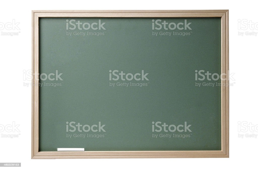 Chalkboard blackboard with frame isolated stock photo