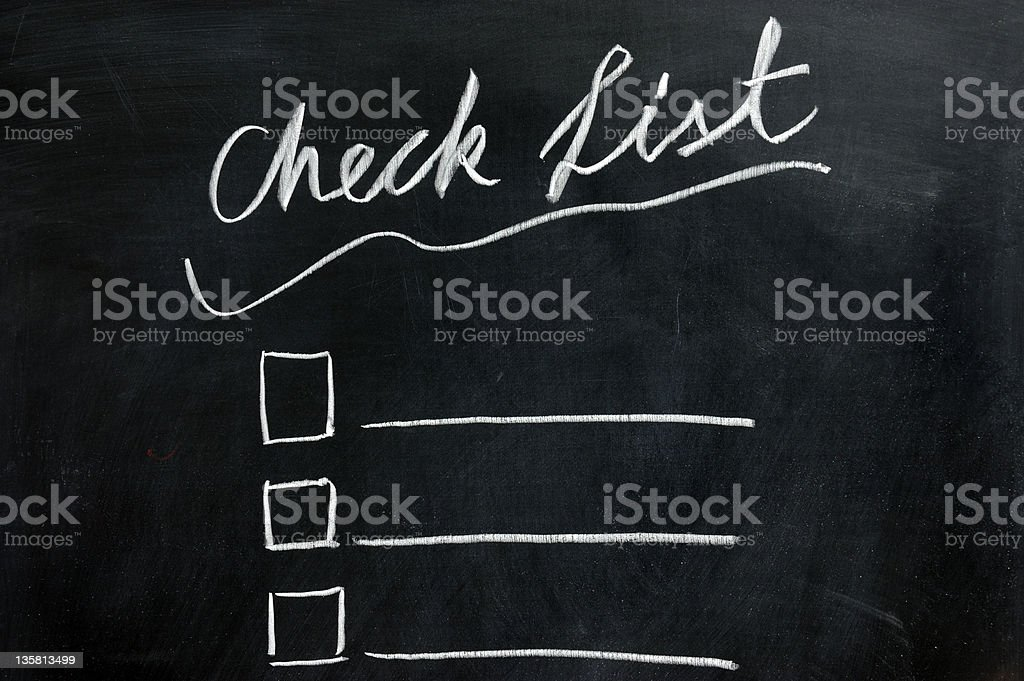 Chalkboard drawing - check list royalty-free stock photo