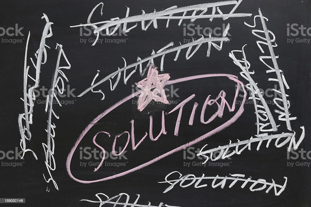 Chalkboard drawing - solution royalty-free stock photo