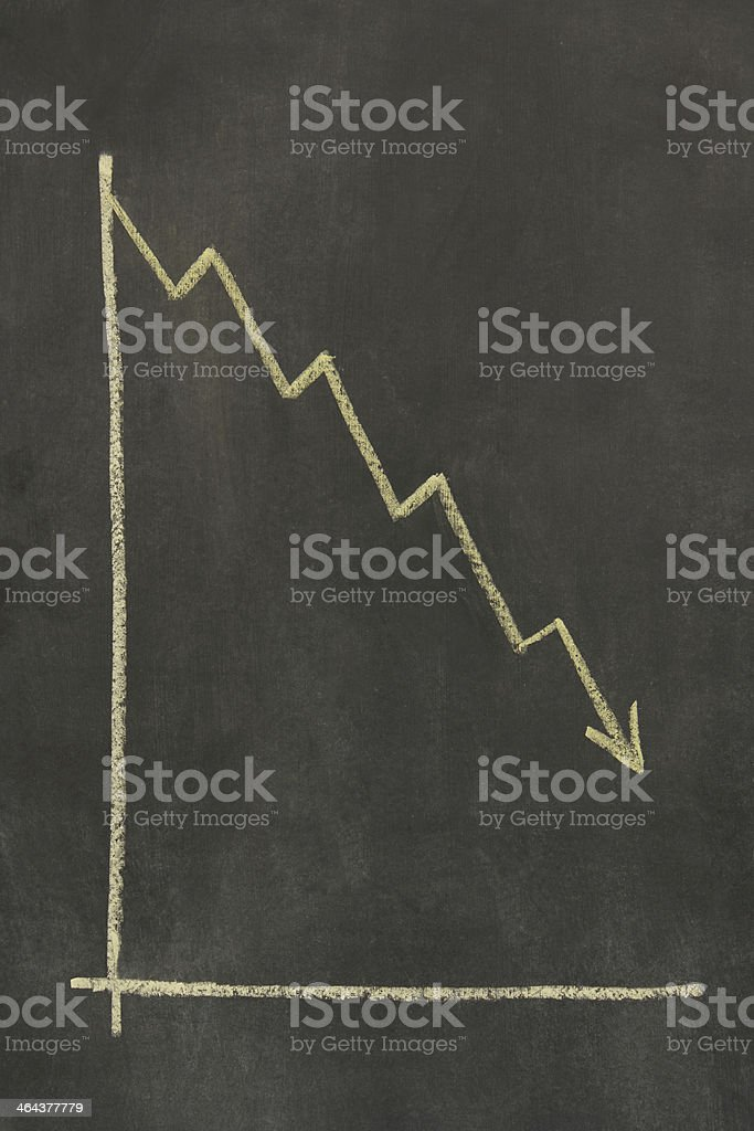 chalkboard graph royalty-free stock photo