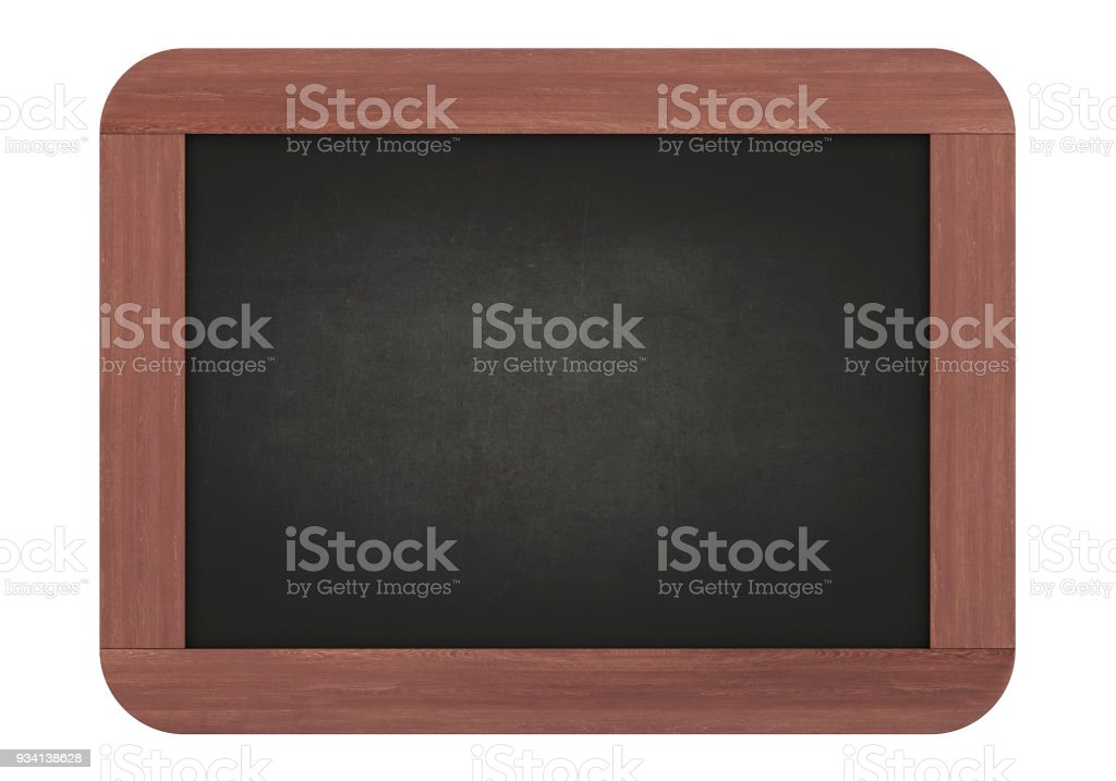 Chalkboard isolated on white background stock photo