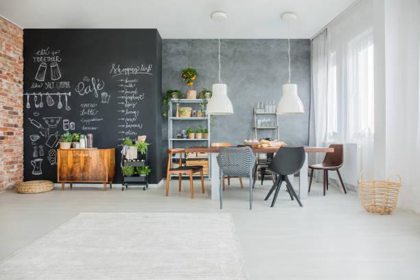 tableau décor de la cuisine - étage photos et images de collection