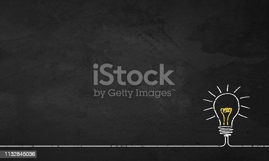 istock Chalkboard Light Bulb 1132845036