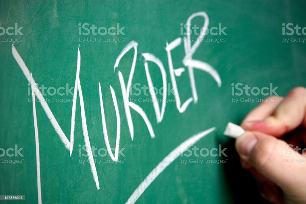 Chalkboard - Murder royalty-free stock photo