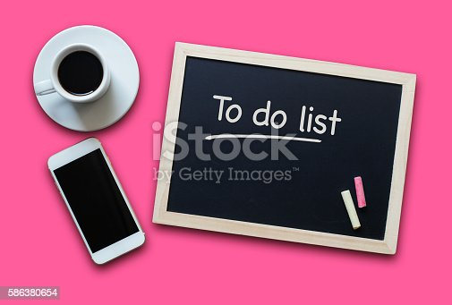 639376084 istock photo Chalkboard or Blackboard concept  with empty To Do List 586380654