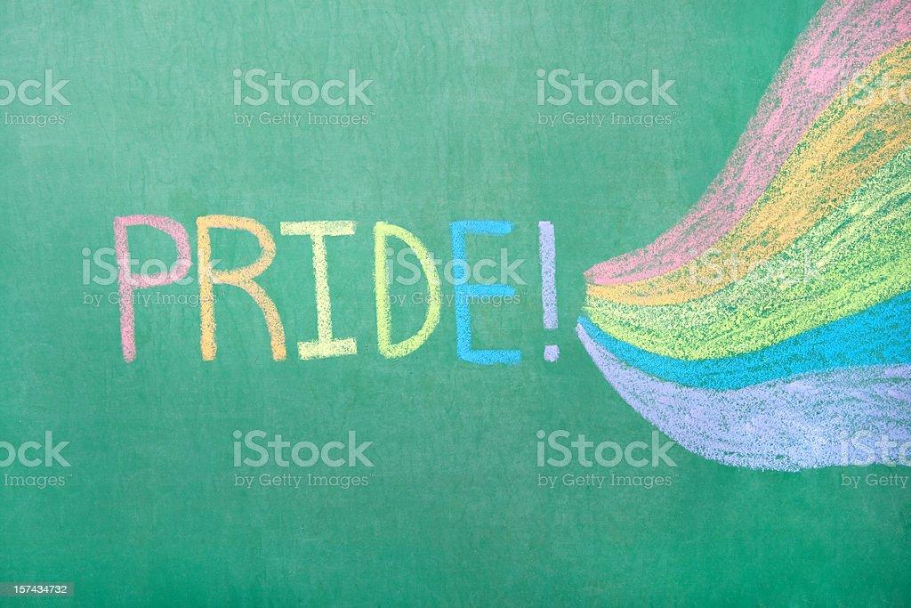 Chalkboard Pride royalty-free stock photo