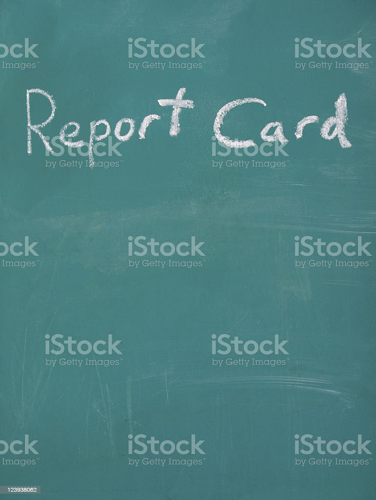 Chalkboard Report Card royalty-free stock photo
