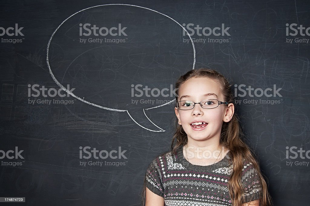Chalkboard, Speech Bubble royalty-free stock photo