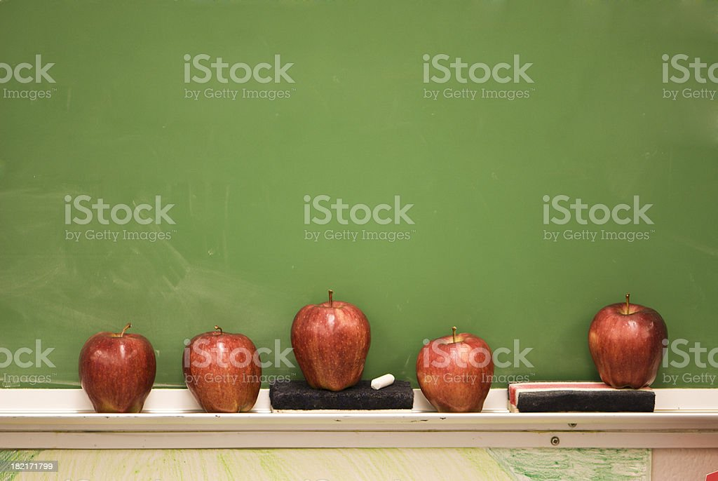 Chalkboard With Apples royalty-free stock photo