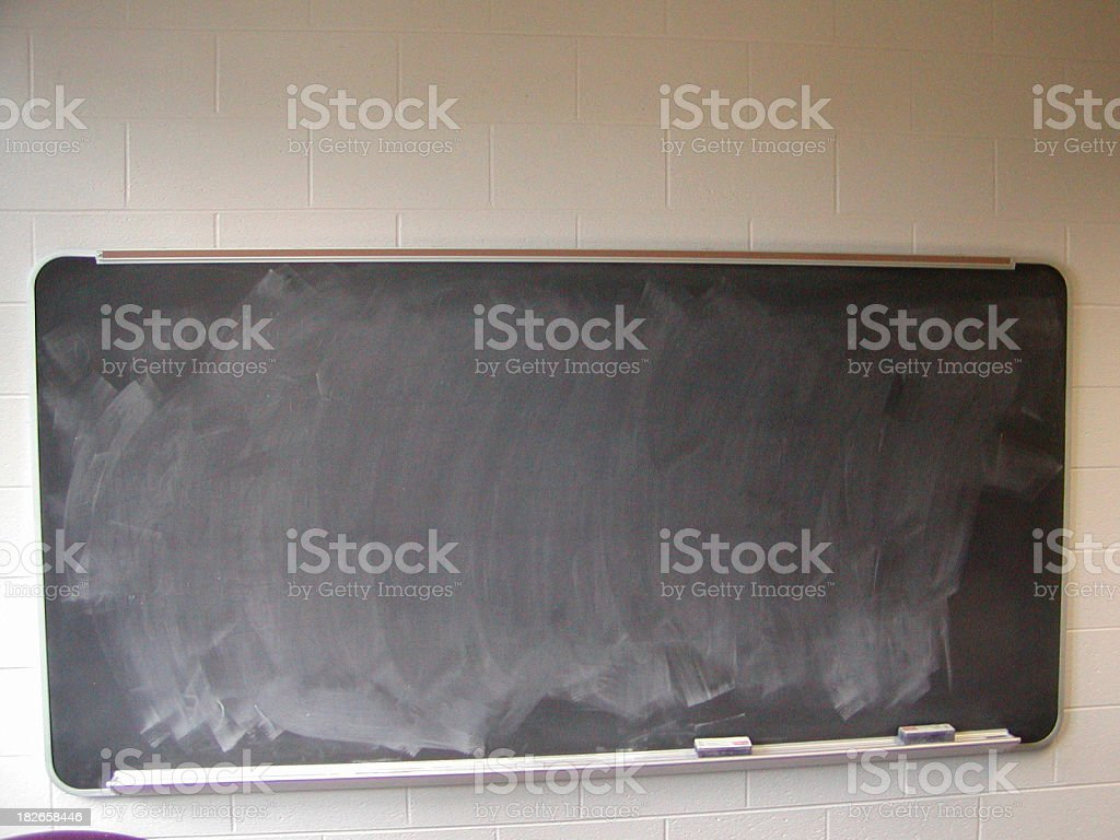chalkboard with clipping path royalty-free stock photo