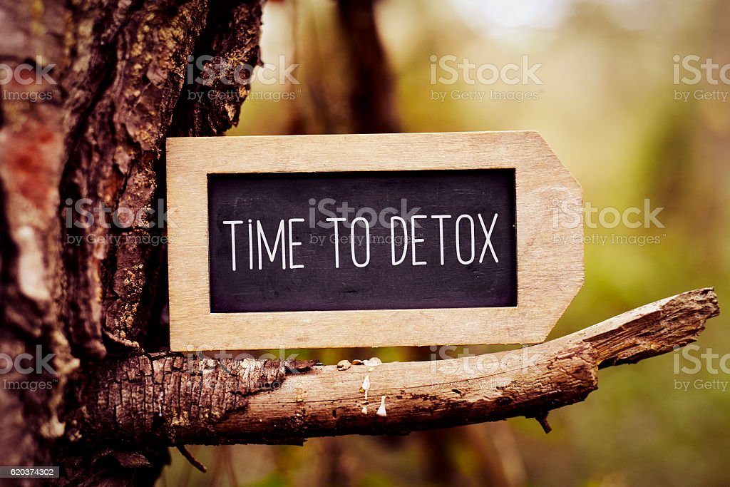 chalkboard with the text time to detox foto de stock royalty-free