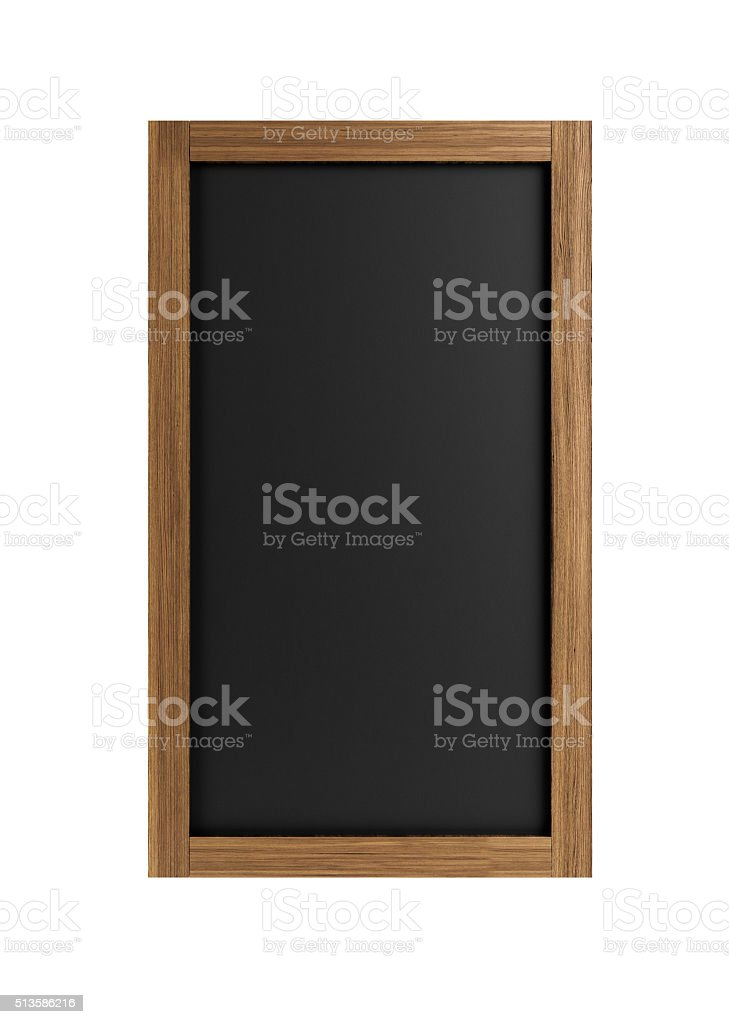 Chalkboard With Wooden Frame stock photo