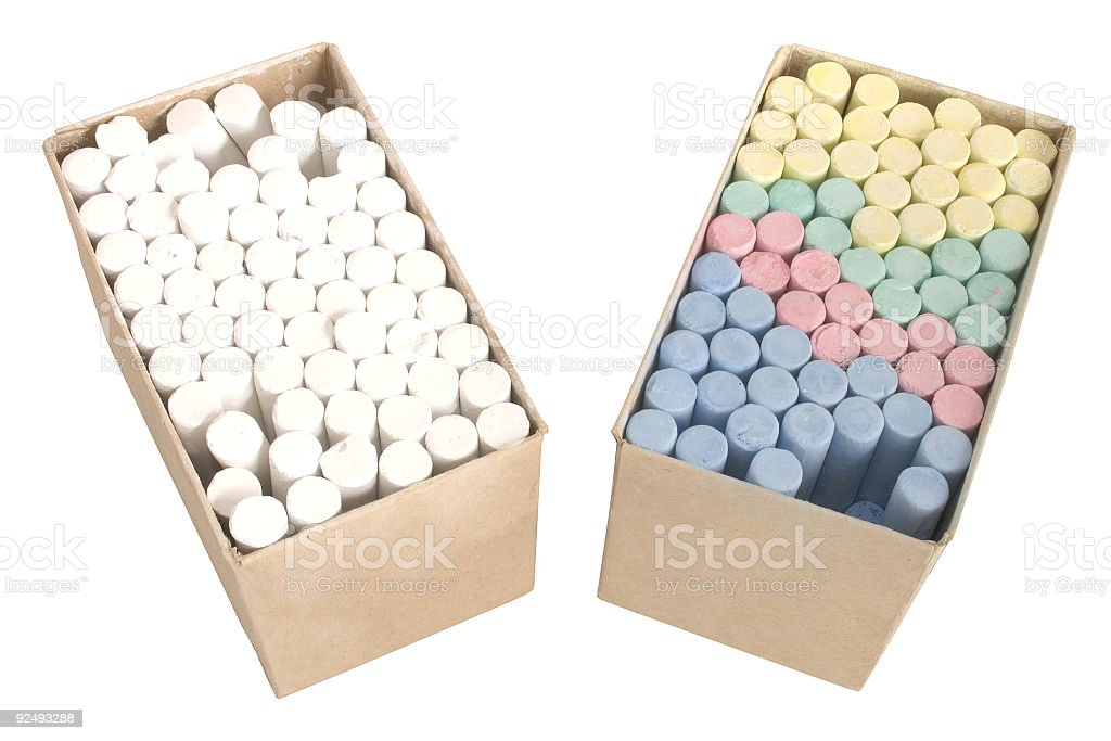Chalks in a boxes royalty-free stock photo
