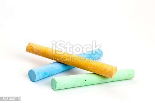 istock chalks in a variety of colors over white 506190715