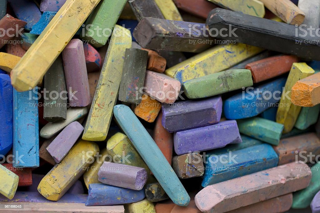Chalks royalty-free stock photo