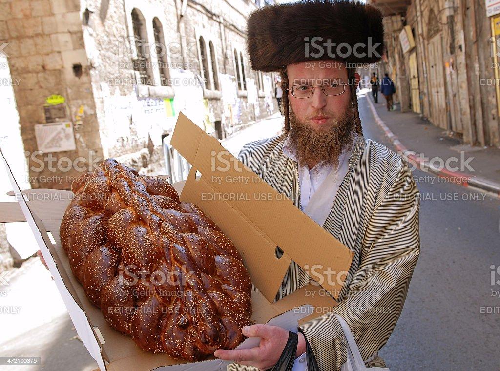 Challah Bread for shabbat. stock photo