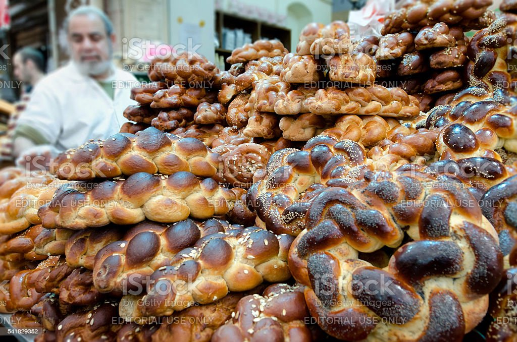 Challah bread for Shabbat stock photo